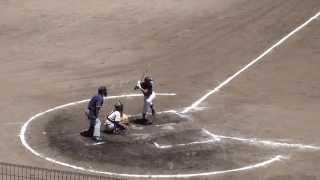 2014年 平田昭人 足の指骨折中。延長10回 代打で登場。 1死2、3塁から3塁打  2014年7月 豊見城中学校野球部