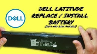 How to Replace Battery on Dell Latitude (many 2014 & 2015 models)