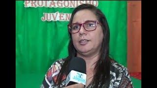 Fátima Holanda fala dos objetivos da Secretaria de Educação ao debater o tema Desenvolvimento do Protagonismo Juvenil