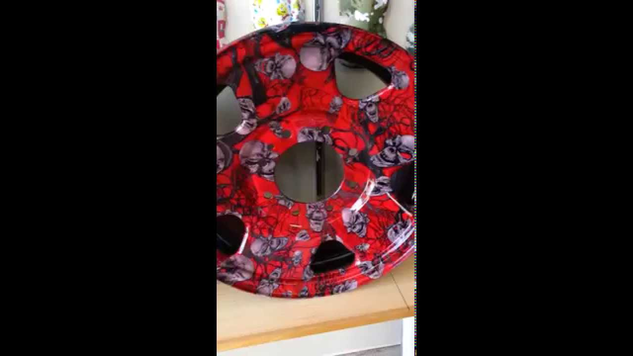 Hydro Dipped Rims In Red Mr Creepy Film From Shawnaughtydesignz