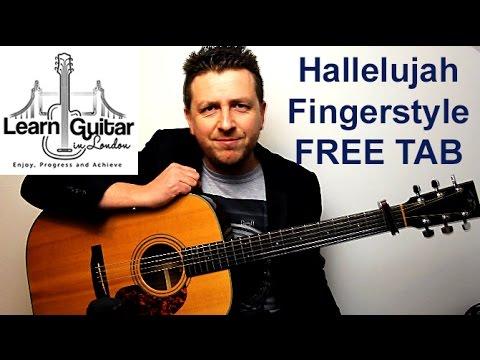 Hallelujah Fingerstyle Guitar Tutorial Leonard Cohen Free Tab