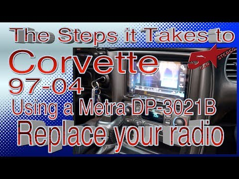 The steps it take to replace your radio in a Chevy Corvette 97 04 using the Metra DB 3021b