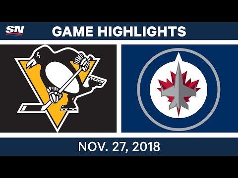 NHL Highlights | Penguins vs. Jets - Nov 27, 2018