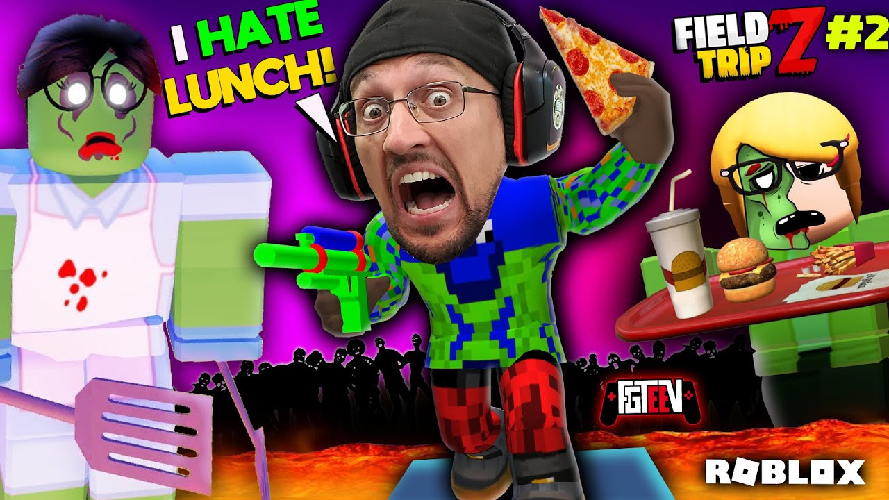 Fgteev Roblox Escape School Videos Roblox Field Trip Z W My Hot Lunch Lady Fgteev S 2nd Most Horrible School Day Youtube