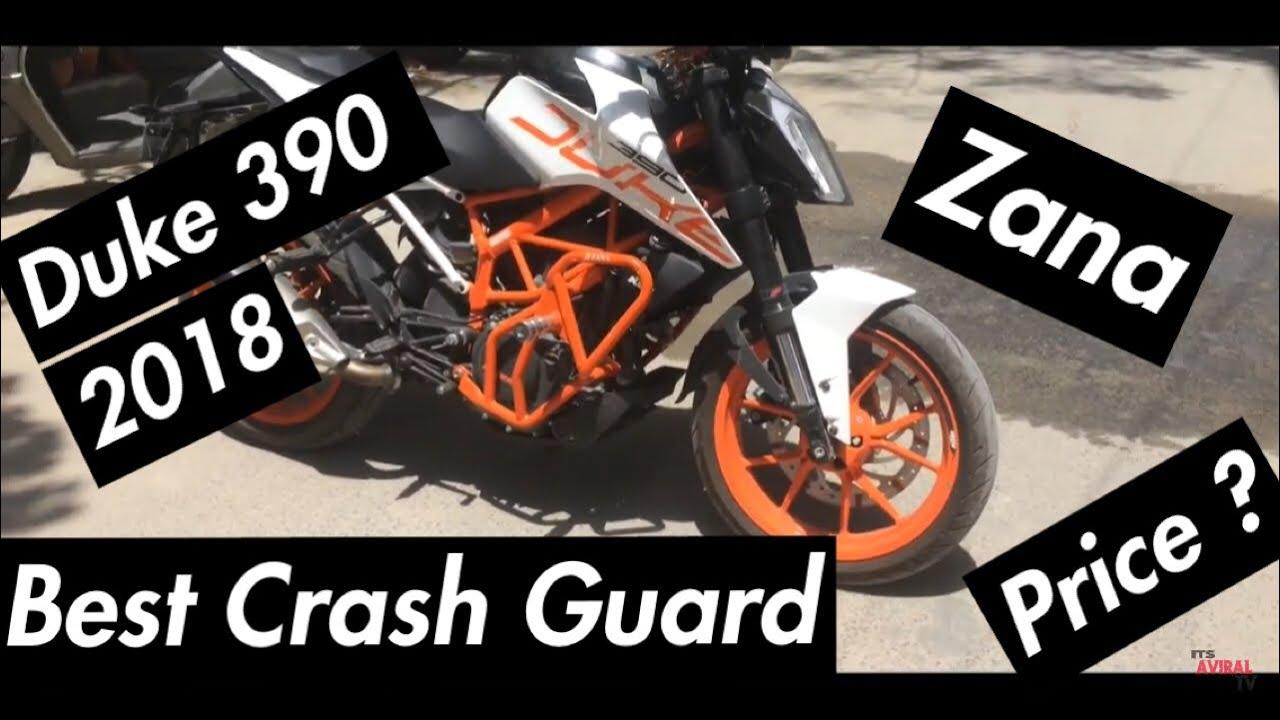 BEST CRASH GUARD FOR DUKE 390 2018 | ZANA | COST AND WALK AROUND |  itsaviraltv