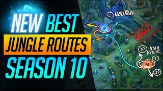 The NEW and BEST JUNGLE ROUTES Pro Players use in Season 10! | League of Legends Guides