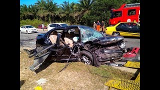 Two killed, child injured in head on collision in Dungun