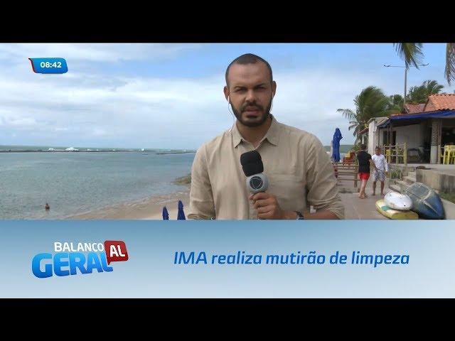 Manchas de petróleo: IMA realiza mutirão de limpeza na Barra de São Miguel