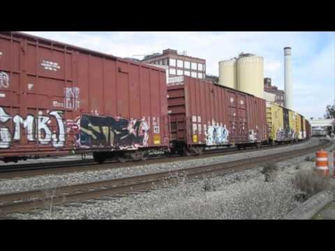 Westbound Union Pacific freight trains -  3 January 2016