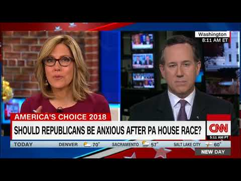 CNN New Day 3/14/18--Rick Santorum: The PA18 Election Was a Perfect Storm for Democrats