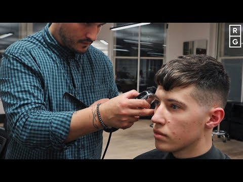 textured-short-messy-fringe-mens-haircut-with-high-#1-fade