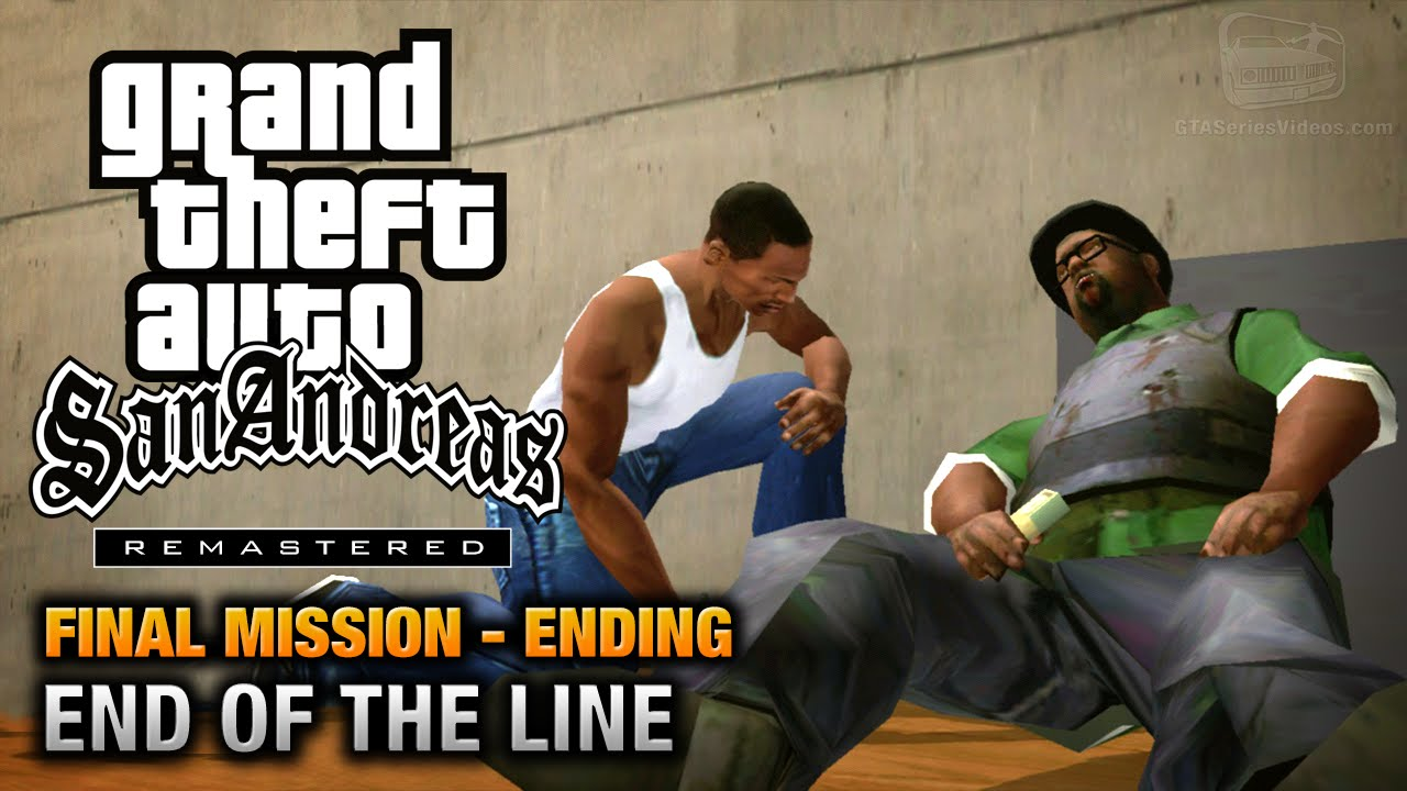 GTA San Andreas Remastered Ending Final Mission End Of The Line Xbox 360 PS3 YouTube