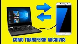 Como PASAR FOTOS Y ARCHIVOS del celular movil al ordenador portátil o PC