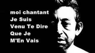 Gainsbourg - Je suis venu te dire que je m