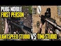 TIMI VS LIGHTSPEED First Person FPP Mode Comparison PUBG MOBILE 60 FPS