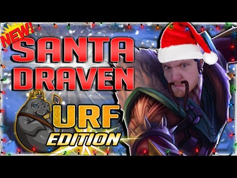 SANTA DRAVEN: URF MASSACRE EDITION!! NEW SANTA DRAVEN SKIN IS AWESOME!! - DRAVEN URF GAMEPLAY
