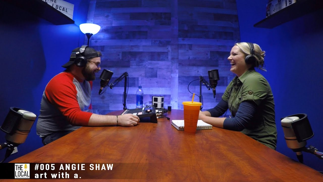 005 ANGIE SHAW ART WITH a Youtube