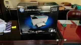unboxing HP Laserjet Pro CP1025 Part I
