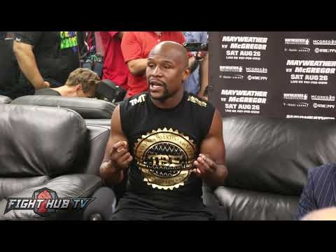 Mayweather vs. Mcgregor - THE FULL FLOYD MAYWEATHER MEDIA WORKOUT ROUNDTABLE VIDEO