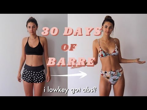 i tried 30 days of barre & this is what happened!
