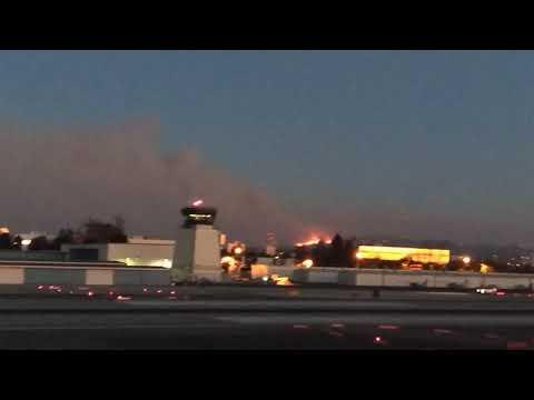 Dec 6 2017 skirball fire from santa Monica airport