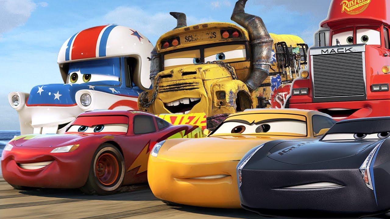 Cars 3 Full Movie Game English Lightning Mcqueen Mack Truck Jackson Storm Cruz Ramirez Tow Mater Youtube