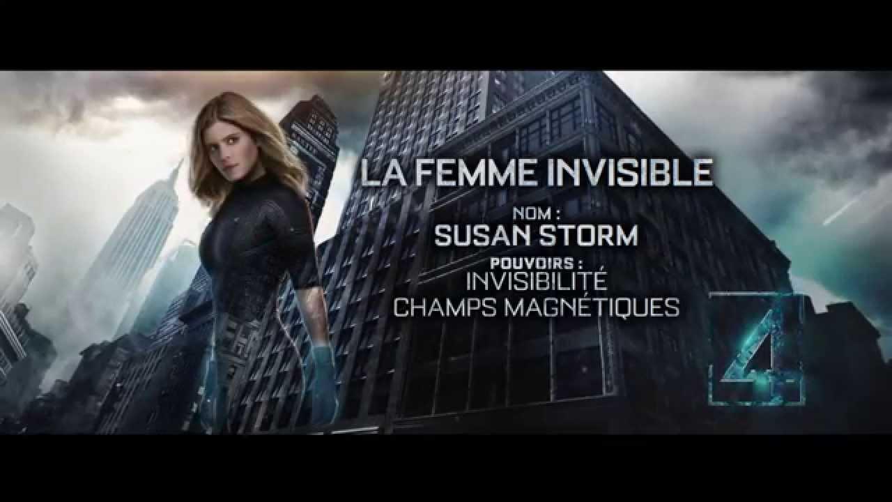 Les quatre fantastiques la femme invisible youtube - La femme invisible 4 fantastique ...