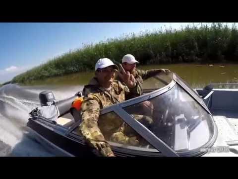 Поездка на лодке в с. Тишково, Астраханской области. Белинский банк, август 2016