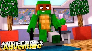 Minecraft Adventure : TINY TURTLE IS IN A WHEELCHAIR!