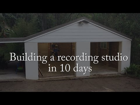 Building a recording studio in 10 days - Intro