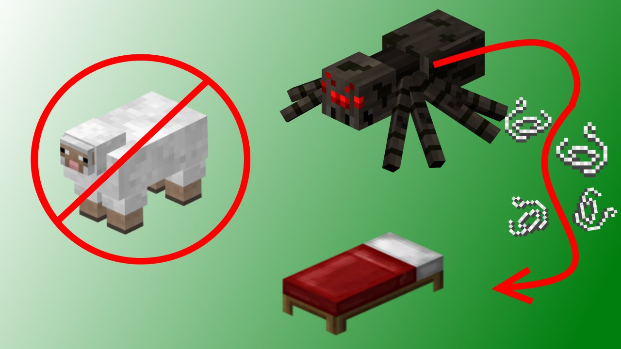 Minecraft How To Make A Bed Without Sheep Youtube,How To Make A Cool Bed Design In Minecraft