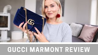 GUCCI MARMONT REVIEW + WHAT'S IN MY BAG I KAJA-MARIE