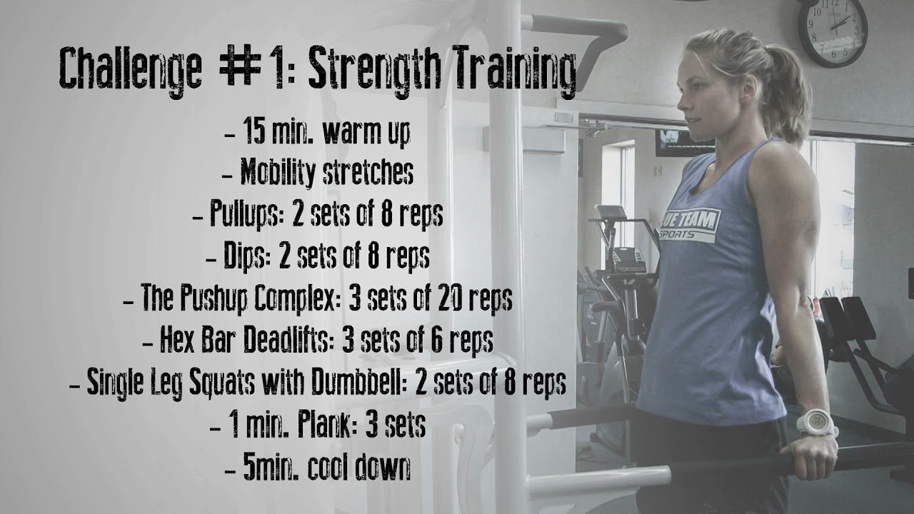 Jessie Diggins' Strength Training Challenge - YouTube
