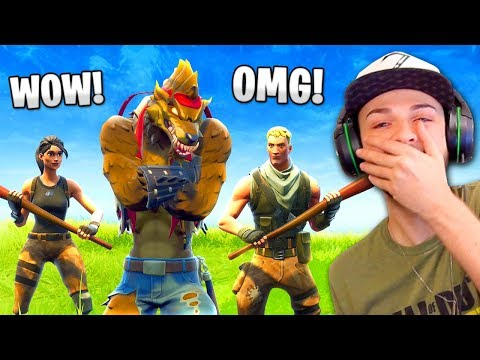 DEFAULTS react to my TIER 100 Dire WOLF skin!