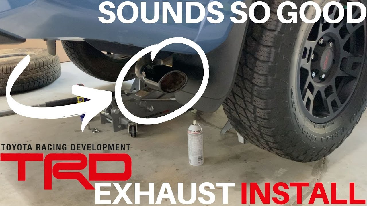 4runner trd exhaust install how to