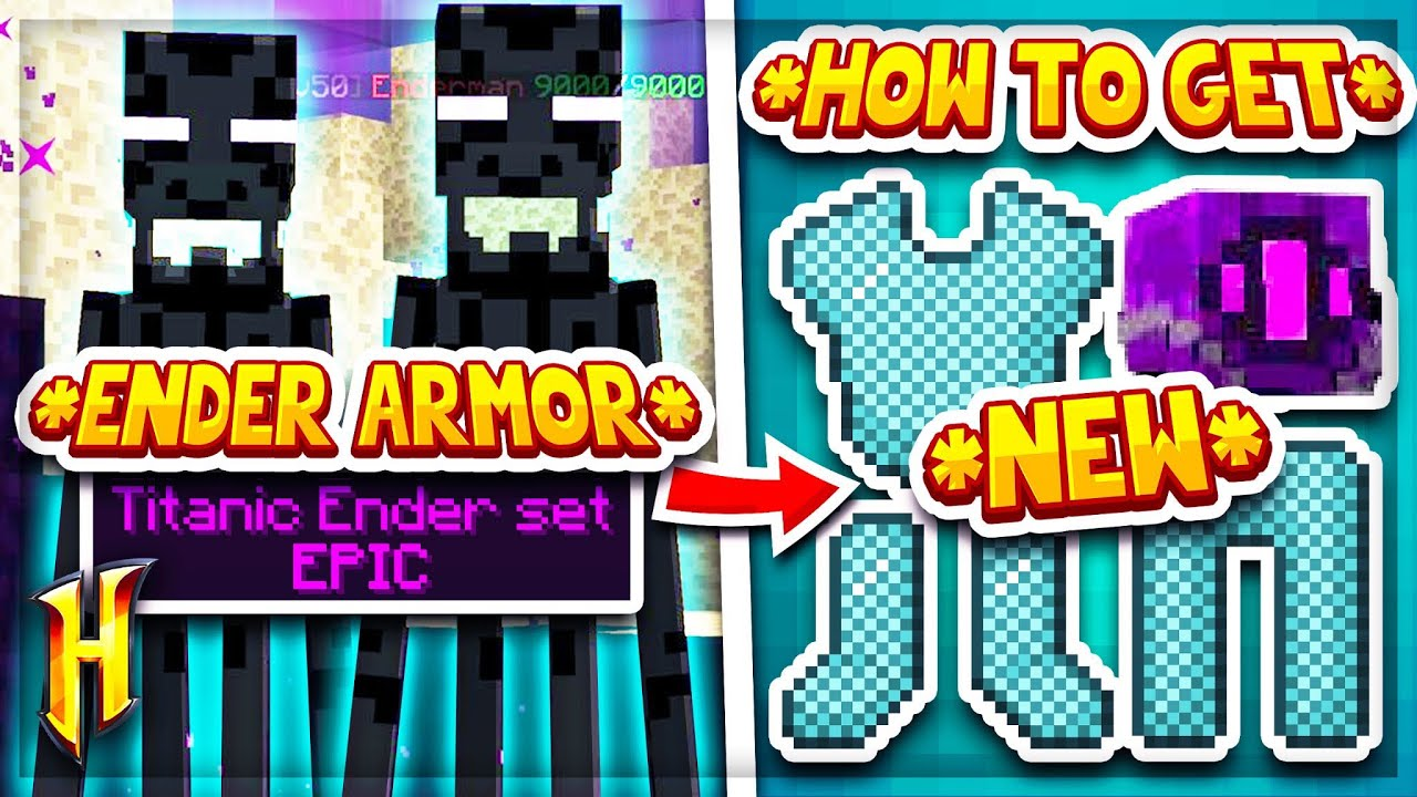 Hypixel Skyblock : HOW TO GET THE *NEW* ENDER ARMOUR! l Minecraft