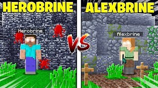 HEROBRINE HOUSE VS ALEXBRINE HOUSE in Minecraft PE!