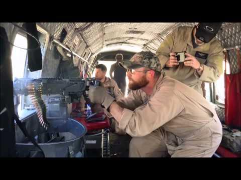Contractors Machine Gun Shoot Kabul, Afghanistan CH-46 Phrog