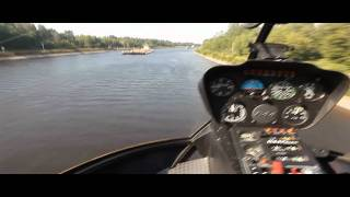 экстримальный полет на вертолете helicopter russian crazy pilot(полет на вертолете на сверх низкой высоте 3м 220кмч., 2011-08-16T14:12:27.000Z)