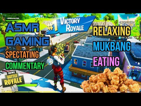 ASMR Gaming 🍿 Fortnite Caramel Popcorn Mukbang Eating Commentary 먹방 🎮🎧 Relaxing Whispering 😴💤