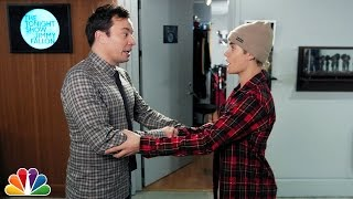 Secret Handshake with Justin Bieber