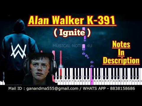 Alan Walker Ignite Piano notes   k391   alan walker   Tutorial   keyboard  sheet music   cover thumbnail