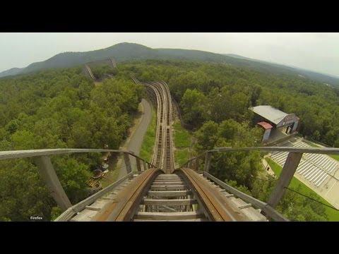 Arkansas Twister Wooden Roller Coaster POV Magic Springs, AR