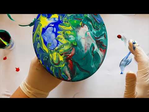 146 Swirl Shot Glass Acrylic Pour Attempt