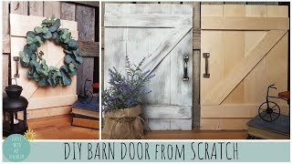 DIY BARN DOOR FROM SCRATCH | FARMHOUSE DECOR IDEAS | HOME DECORATING | MICHAELS INSPIRED | CRAFTS