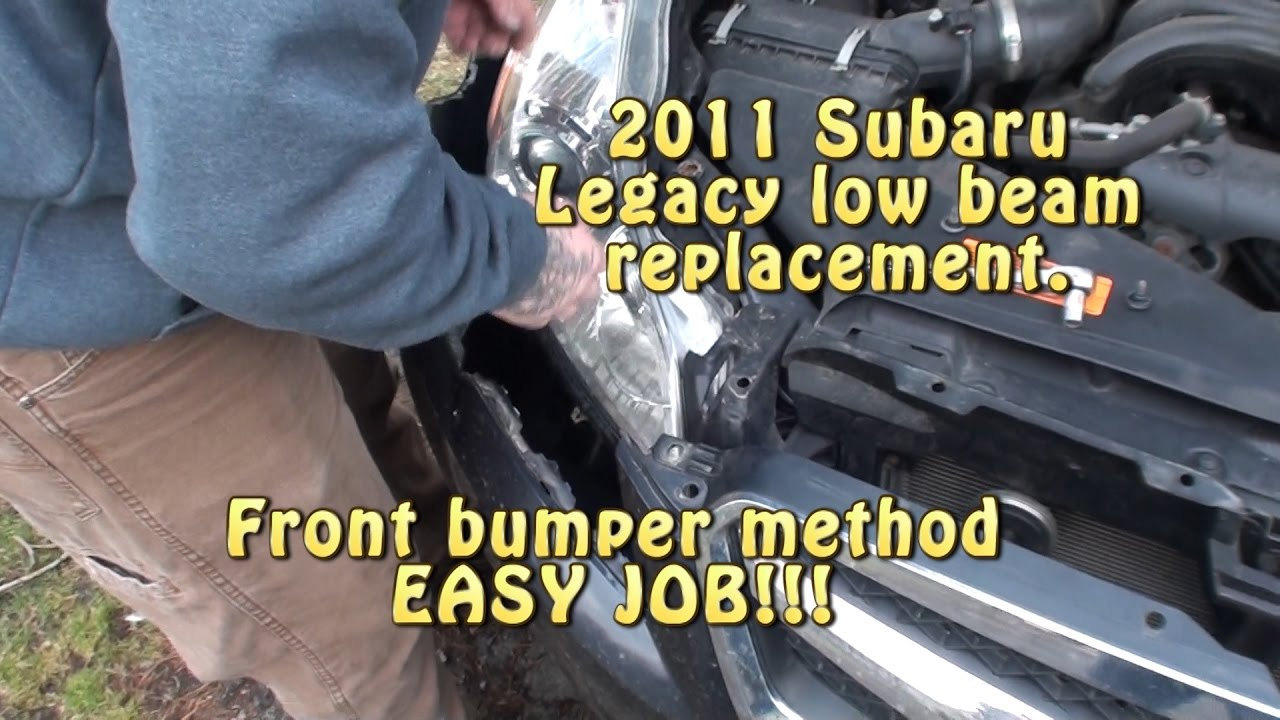 2012 Subaru Outback Headlight Assembly Removal