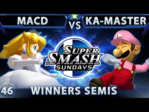 SSS 46 - Splyce MacD (Peach) Vs. Ka-Master (Luigi) SSBM Winners Semis - Smash Melee