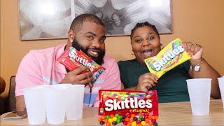 THE SKITTLE COLOR CHALLENGE! HUSBAND VS WIFE