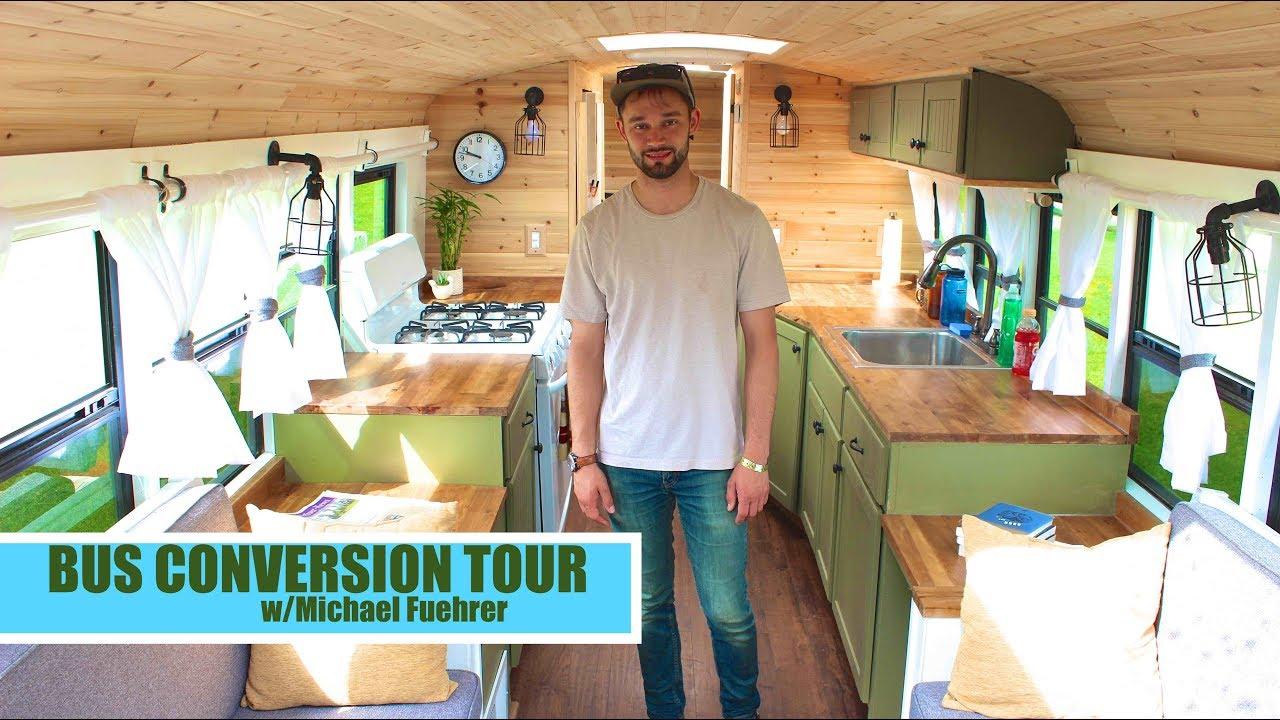 GORGEOUS School Bus/Tiny House RV Conversion tour