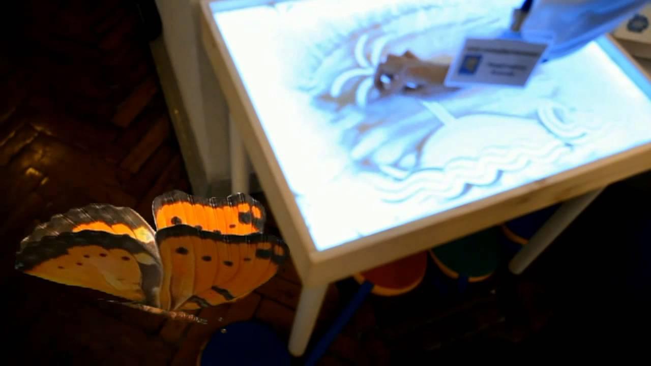 Как рисовать песком ютуб